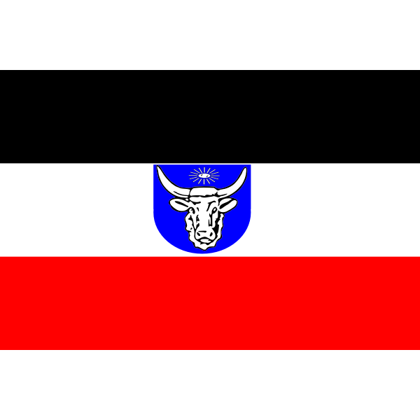 Flag of German South-West Africa vector illustration