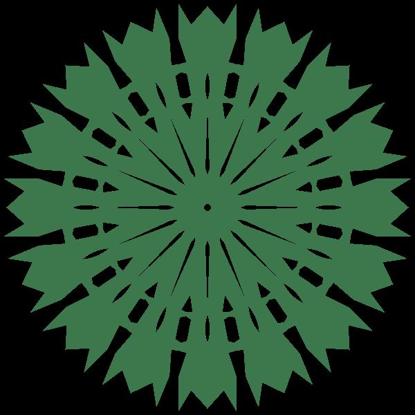 Geometric design element green color