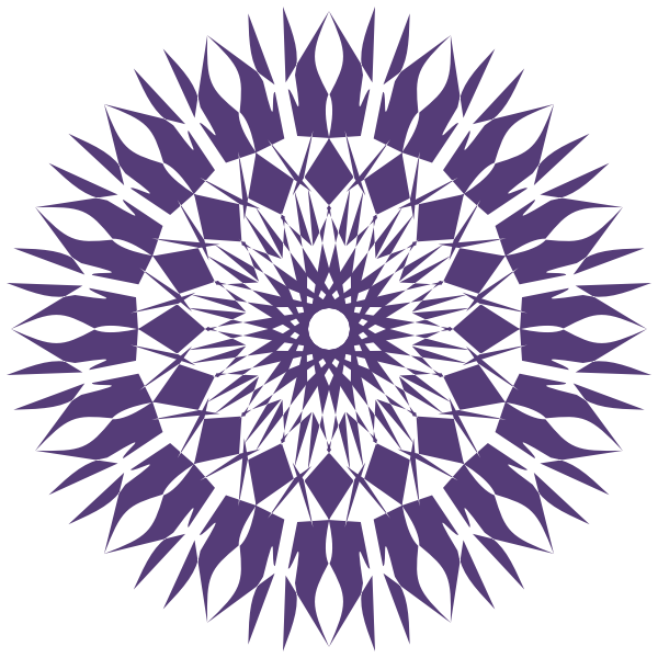 Spirograph geometric shape