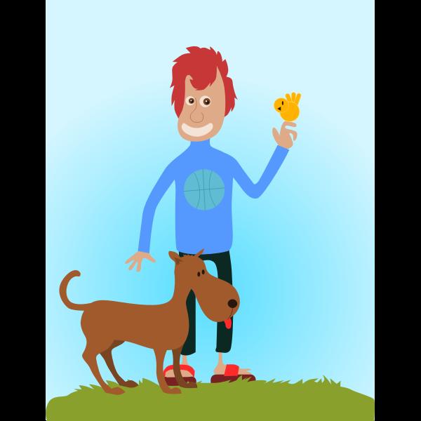 Animal lover vector illustration
