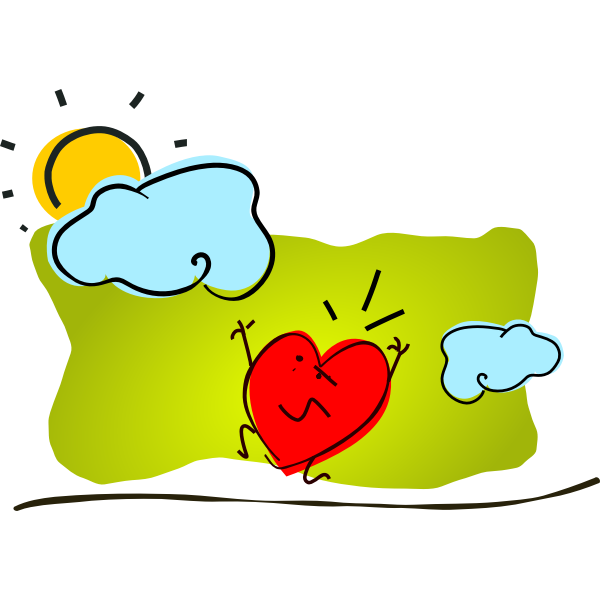 Anxious heart vector image