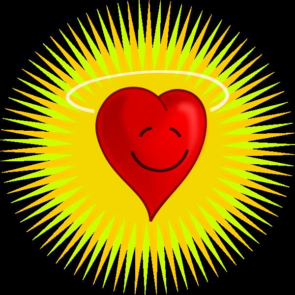 Vector illustration of happy heart