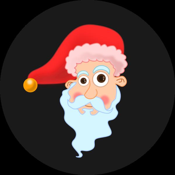 Santa's Head Vector graphics