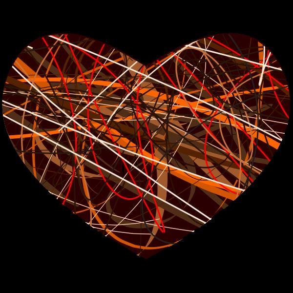 Vector clip art of mottled heart