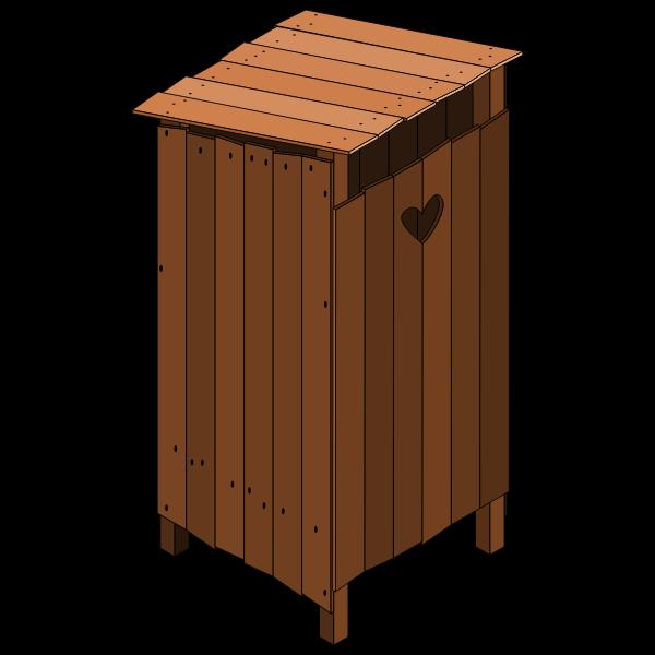 Wood latrine closed vector image