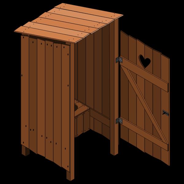 Wood latrine open vector image