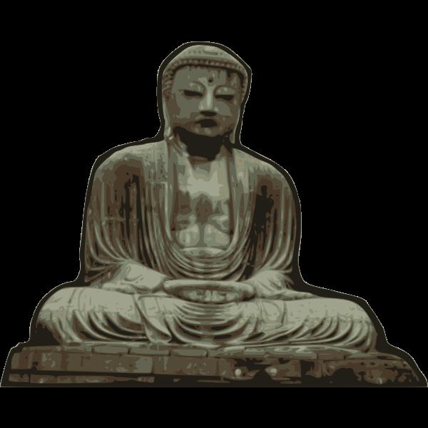 Vector illustration of statue of Buddha