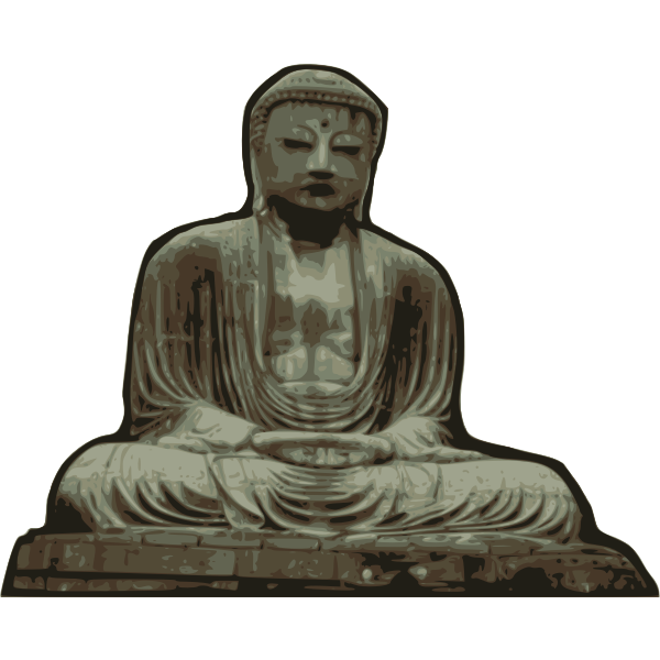 Vector illustration of statue of Buddha