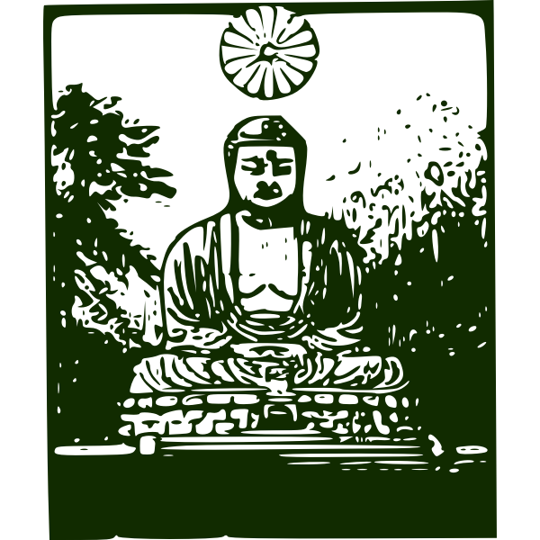 Buddha vector drawing