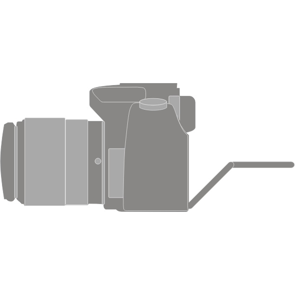 Vector clip art of photo camera with a foldable display