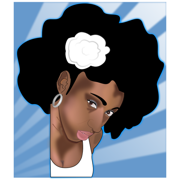 With clipart girl black afro Black Art