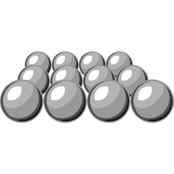 Selection of grayscale balls vector image