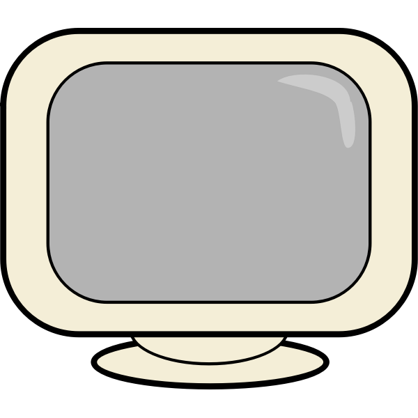 Computer screen webicon vector drawing