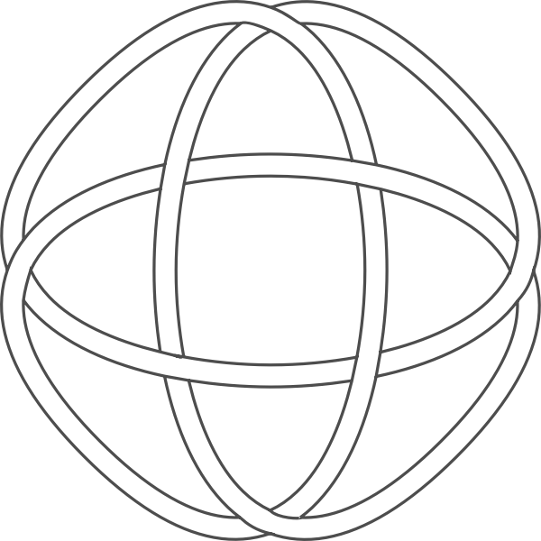 Image of endless Celtic knot in black and white