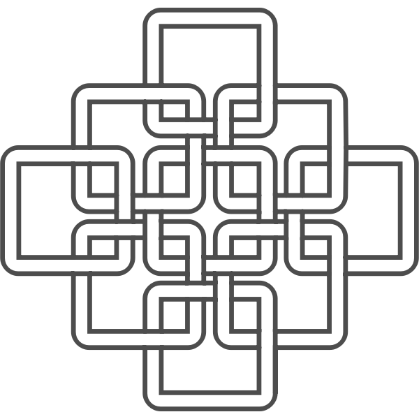 Clip art of square Celtic knots