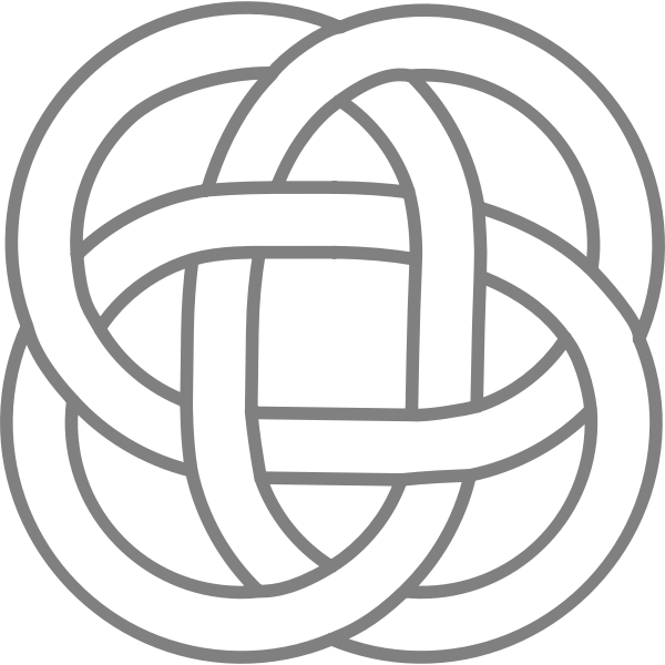 Vector graphics of interwined Celtic design