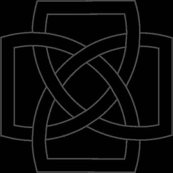 Illustration of simple square shaped Irish clover design