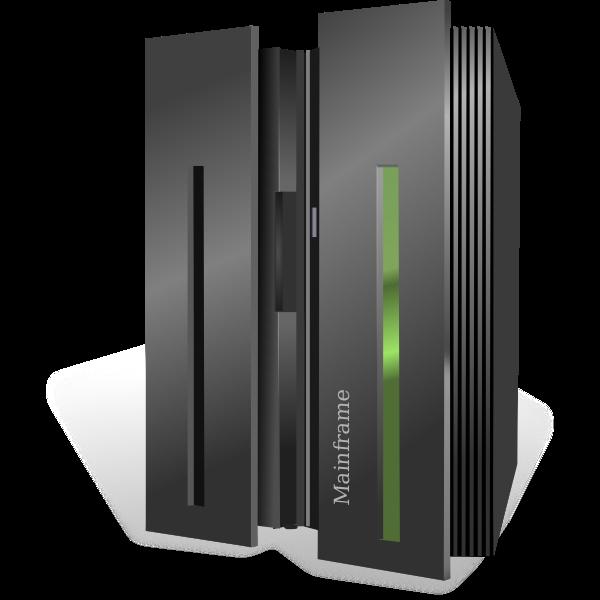 IBM System Z10 mainframe vector image