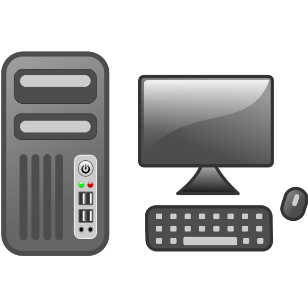 Vector illustration of computer workstation