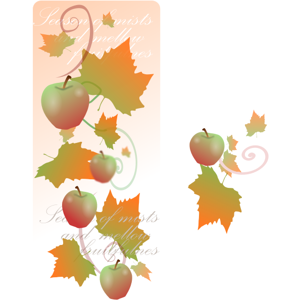 Autumn decoration banner vector clip art