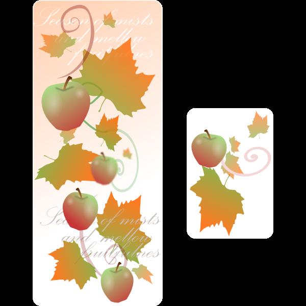 Autumn decoration banner vector clip art