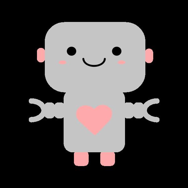 Kawaii robot with heart