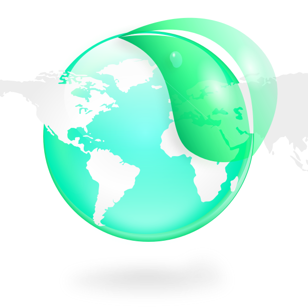 Ecological globe vector graphics