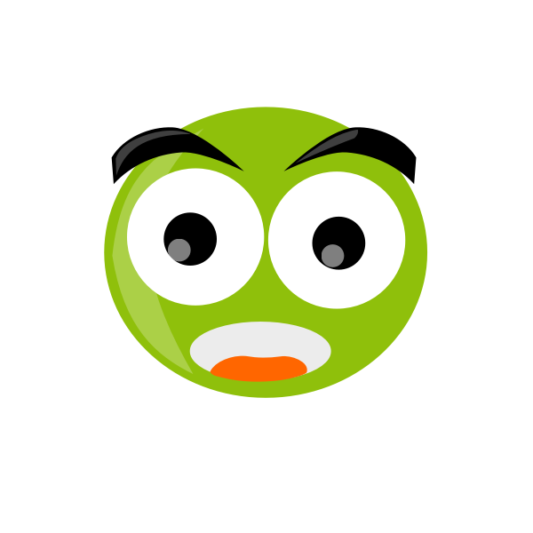 Vector image of frog face character