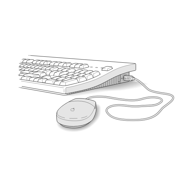 Vector illustration of keyboard Apple mouse