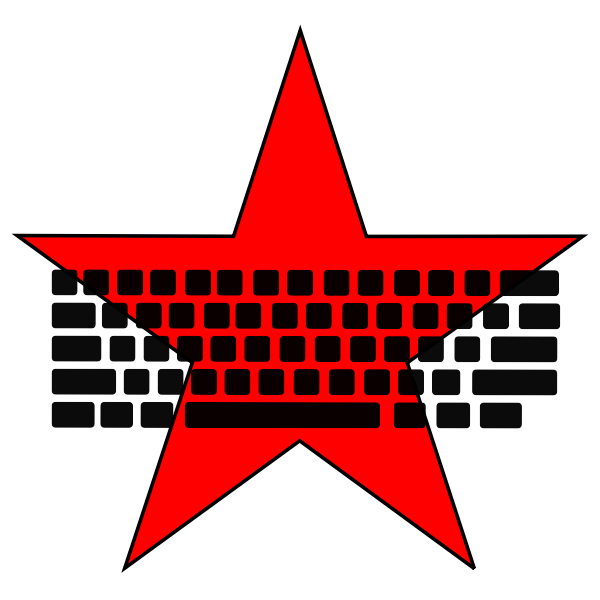 Communist keyboard vector image