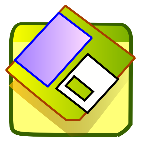 Vector illustration of green shades floppy icon