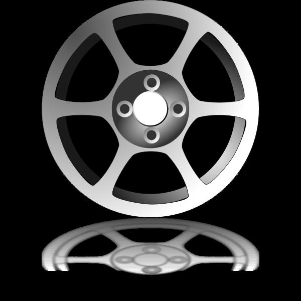 Wheel rim vector graphics