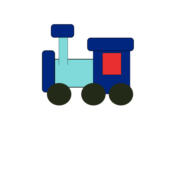 Toy vector illustration of train