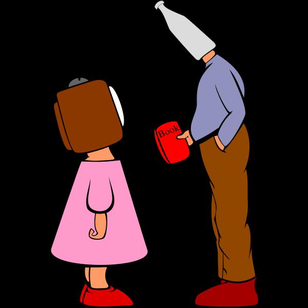 Read a book vector illustration