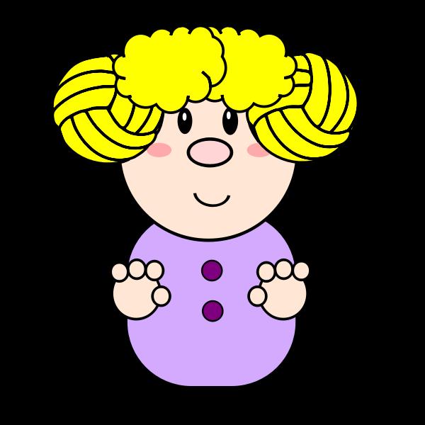 Blond cartoon girl