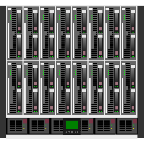 HP C7000 data center vector image