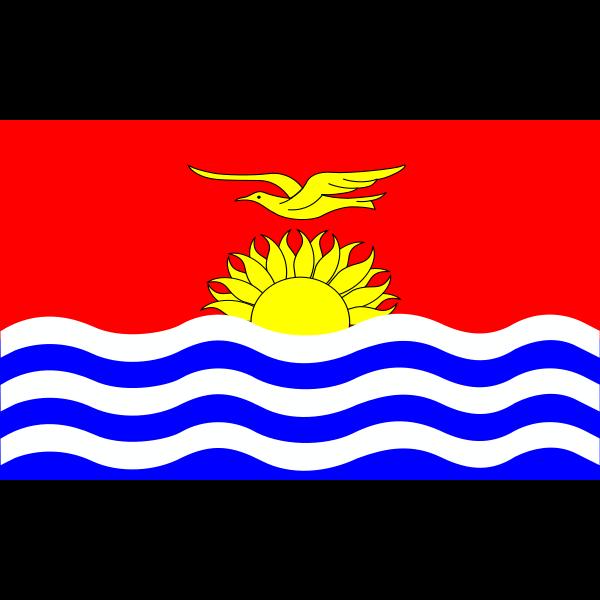 Flag of Kiribati islands