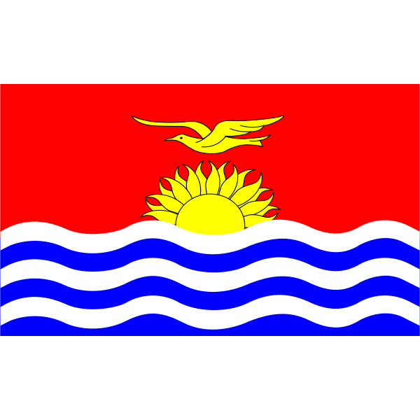 Flag of Kiribati islands