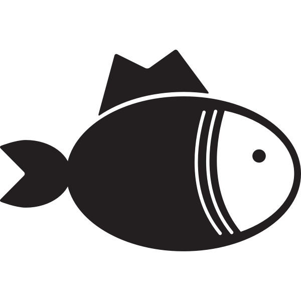 Fish kitchen icon vector drawing