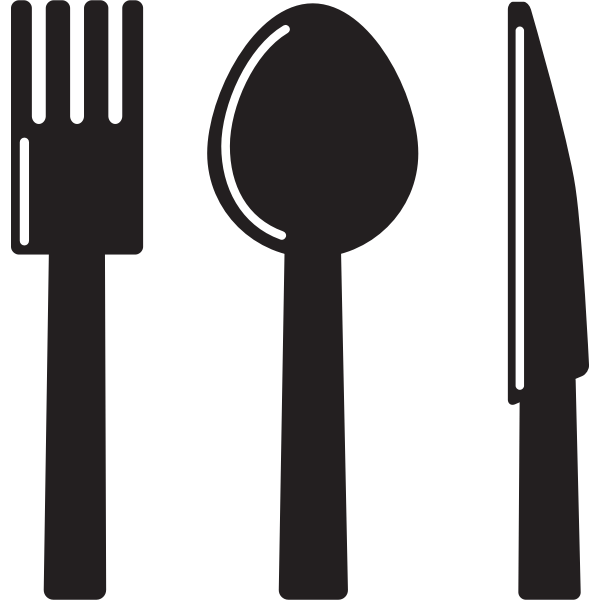 Knife, spoon and fork silhouette