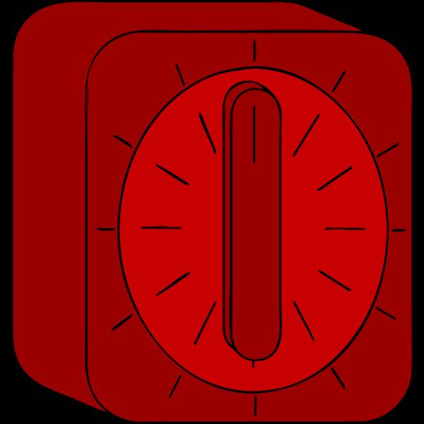 Red kitchen timer