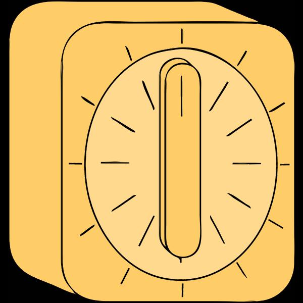 Yellow kitchen timer