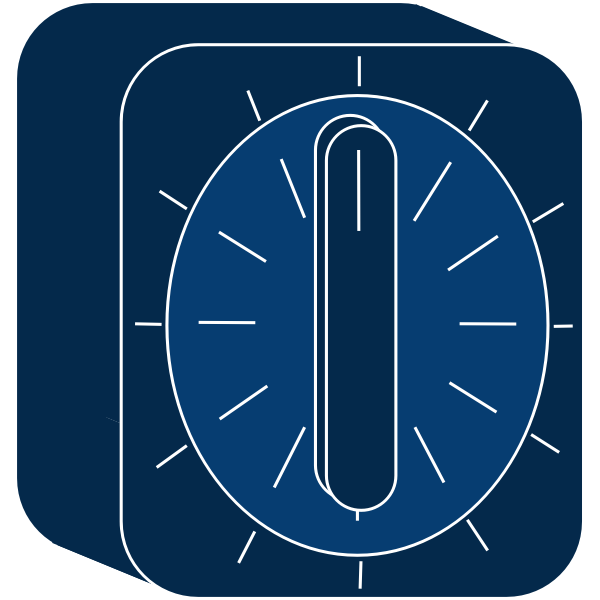 Blue kitchen timer