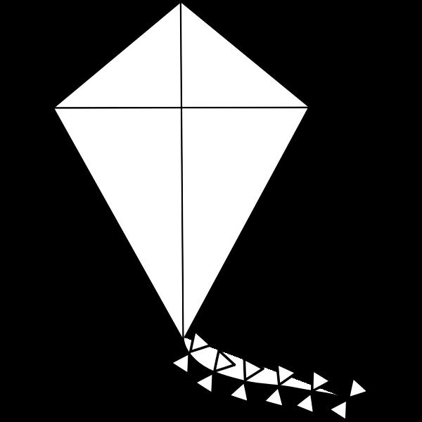 Kite line art vector illustration