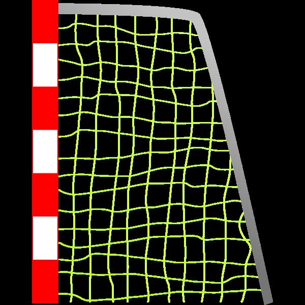 Soccer goal vector drawing