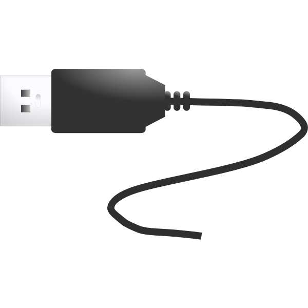 USB plug vector illustration