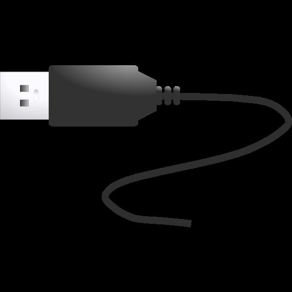 USB plug vector illustration