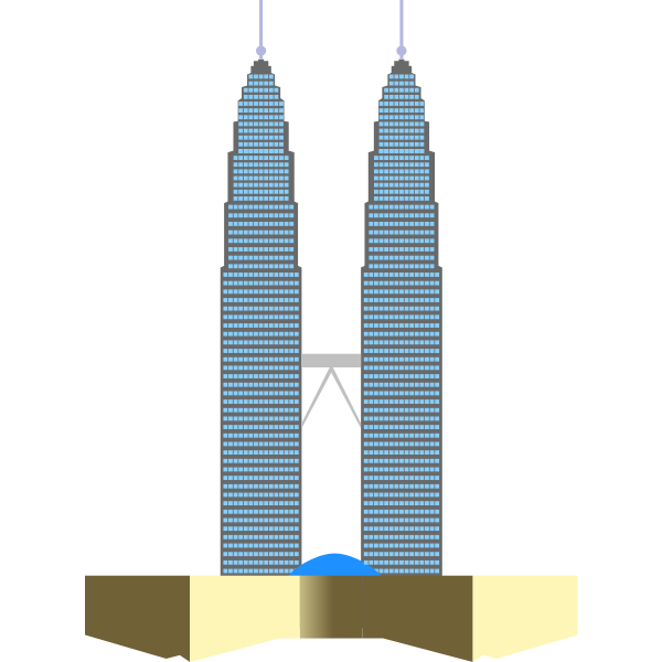 Petronas Twin Towers In Kuala Lumpur Vector Clip Art Free Svg