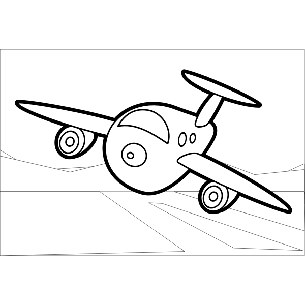 Vector clip art of airplane