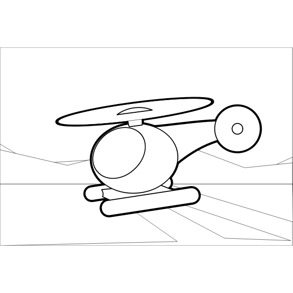 Helicopter outline illustration